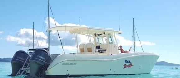 BVI boat rentals 32' catamaran