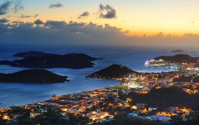 Virgin Islands at night