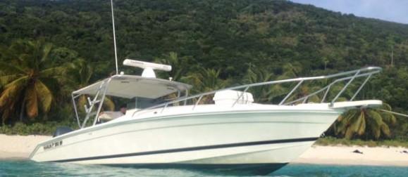 st thomas 35' boat charter